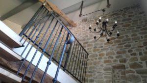 Cage d'escalier gite murier